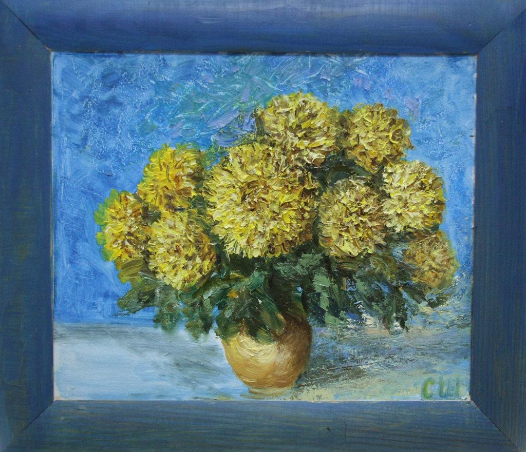 Жовто-блакитний натюрморт